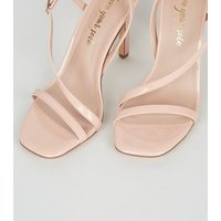 Pale Pink Patent Asymmetric Strap Stilettos New Look Vegan