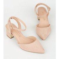 Wide Fit Cream Metal Heel Court Shoes New Look Vegan
