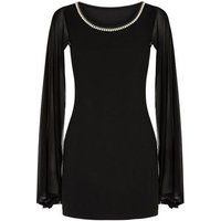 Missfiga Black Faux Pearl Bodycon Dress New Look