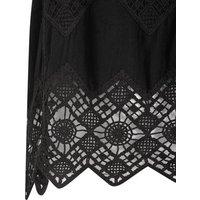 Black Crochet Sleeveless Top New Look