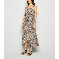 Brown Leopard Print Maxi Beach Dress New Look