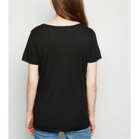 Black V Neck T-Shirt New Look