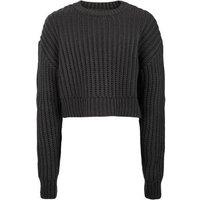 Girls Dark Grey Ribbed Knit Jumper New Look