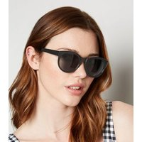 Black Preppy Sunglasses New Look