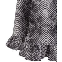 Mela Black Animal Print Frill Jacket New Look
