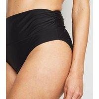 Black 'Lift & Shape' Foldover Bikini Bottoms New Look