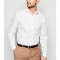 Men's 2 Pack White Long Sleeve Poplin Shirts New Look