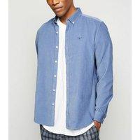 Mens Pale Blue Corduroy Long Sleeve Shirt New Look