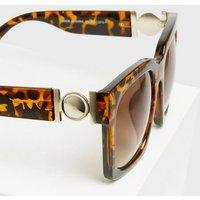 Dark Brown Oversized Square Frame Sunglasses New Look