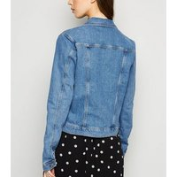 Tall Blue Boxy Denim Jacket New Look
