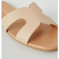 Cream Leather-Look Sliders New Look Vegan