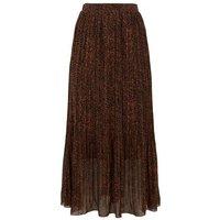 Rust Leopard Print Pleated Midi Skirt New Look