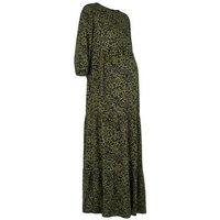 Maternity Khaki Leopard Print Maxi Dress New Look