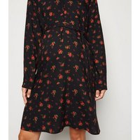 Maternity Black Rose Tunic Dress New Look