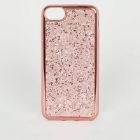 Rose Gold Glitter Case For iPhone 6/6S/7/8 New Look