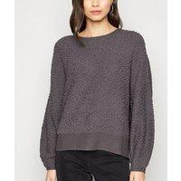 Apricot Dark Grey Teddy Sweatshirt New Look