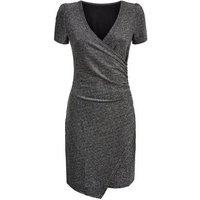 Apricot Silver Glitter Wrap Bodycon Dress New Look