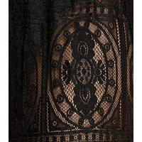 Black Crochet Lace Beach Trousers New Look