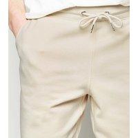 Men's Cream Jersey Shorts New Look