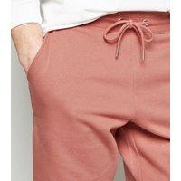 Men's Orange Jersey Shorts New Look