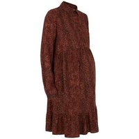 Maternity Brown Leopard Print Smock Dress New Look