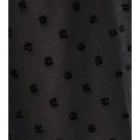 Maternity Black Chiffon Spot Smock Dress New Look