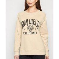 Camel San Diego Slogan Sweatshirt New Look