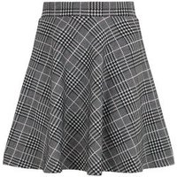 Girls Black Check Skater Skirt New Look