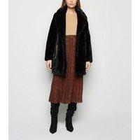 Petite Rust Leopard Print Pleated Midi Skirt New Look
