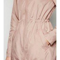 Pale Pink Elasticated Long Anorak New Look