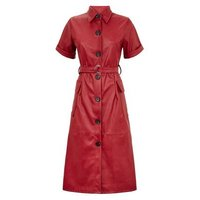Urban Bliss Red Coated Leather-Look Dress New Look