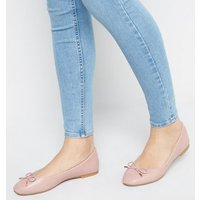 Pink Faux Snake Ballet Pumps New Look Vegan