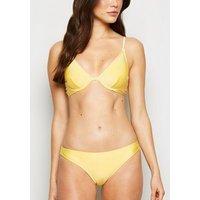 Yellow Underwired Bikini Top New Look