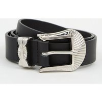 Girls Black Western Buckle Belt New Look