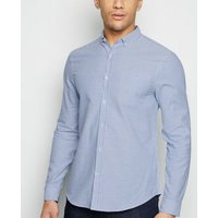 Pale Blue Stripe Long Sleeve Shirt New Look