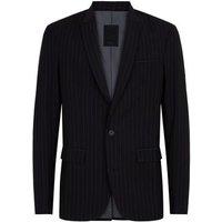 Men's Black Pinstripe Suit Jacket New Look