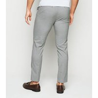 White Check Skinny Trousers New Look