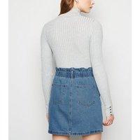 Noisy May Blue High Waist Denim Skirt New Look