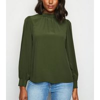 Green High Neck Blouse New Look