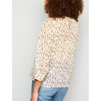 JDY Off White Floral Chiffon Blouse New Look