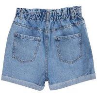 Girls Pale Blue High Waist Denim Shorts New Look
