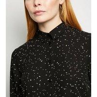 Tall Black Abstract Spot Shirt New Look