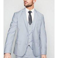 Pale Blue Skinny Suit Jacket New Look