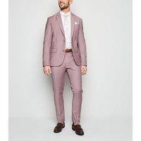 Pink Skinny Suit Trousers New Look