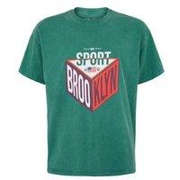 Dark Green Brooklyn Sports Slogan T-Shirt New Look
