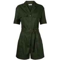 Khaki Belted Denim Playsuit New Look