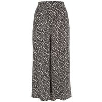 Black Ditsy Floral Wide Leg Trousers New Look