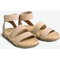 Wide Fit Cream Elastic Strap Footbed Sandals New Look Vegan
