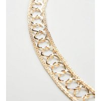 Gold Round Link Skinny Chain Belt New Look