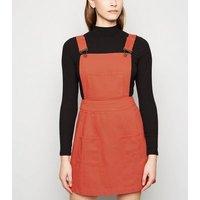Sunshine Soul Rust Mini Pinafore Dress New Look